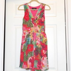Jack by BB Dakota Floral Pink Dress Size 2